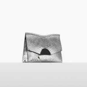 Proenza Schouler Python Embossed Small Curl Clutch